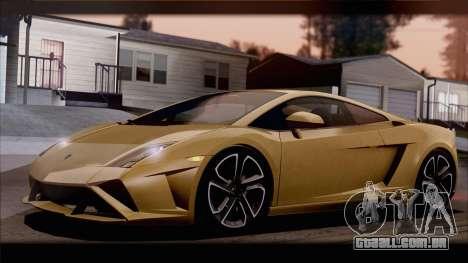 Lamborghini Gallardo LP560-4 Coupe 2013 V1.0 para GTA San Andreas vista inferior