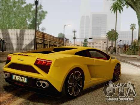 Lamborghini Gallardo 2013 para GTA San Andreas esquerda vista