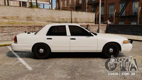 Ford Crown Victoria 1999 Unmarked Police para GTA 4 esquerda vista