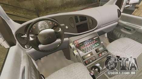 Ford E-350 LCFR [ELS] para GTA 4 vista de volta