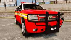 Chevrolet Tahoe Fire Chief v1.4 [ELS] para GTA 4