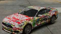Ford Mustang GT 2015 Sticker Bombed para GTA 4
