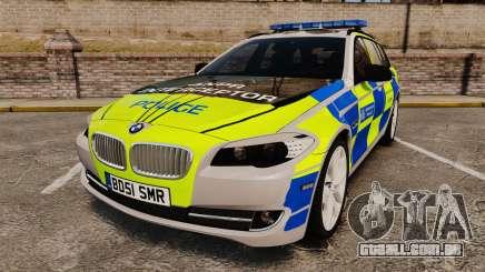 BMW 550d Touring Metropolitan Police [ELS] para GTA 4