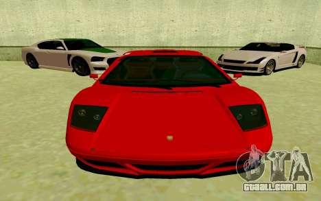 GTA V Pegassi Infernus para GTA San Andreas esquerda vista