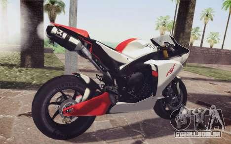 Yamaha YZF R1 para GTA San Andreas traseira esquerda vista