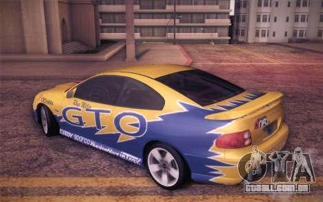 Pontiac GTO 2005 para GTA San Andreas vista inferior