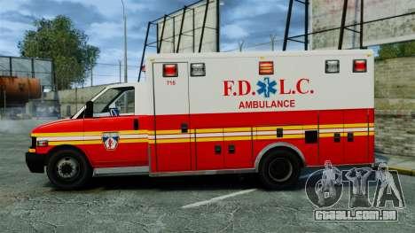 Brute FDLC Ambulance [ELS] para GTA 4 esquerda vista
