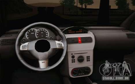 Chevrolet Corsa VHC para GTA San Andreas vista direita