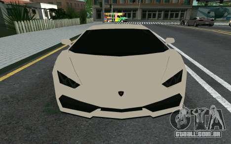 Lamborghini Huracane LP610-4 para GTA San Andreas esquerda vista