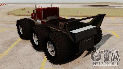 The Biggest Monster Truck para GTA 4 traseira esquerda vista
