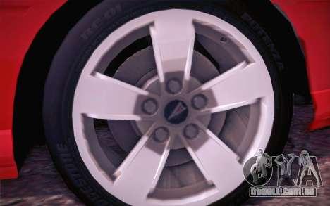 Pontiac GTO 2005 para GTA San Andreas vista interior