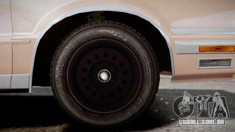 Chrysler New Yorker 1988 para GTA 4 traseira esquerda vista