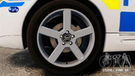 Volvo V70 II Swedish Police [ELS] para GTA 4 vista de volta