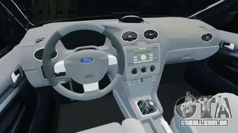 Ford Focus Metropolitan Police [ELS] para GTA 4 vista interior