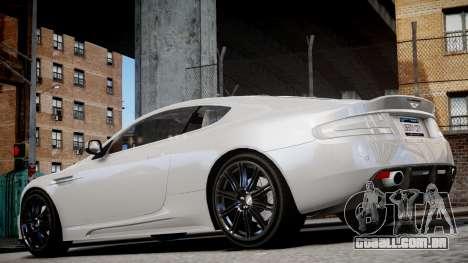 Aston Martin DBS v1.0 para GTA 4 vista direita
