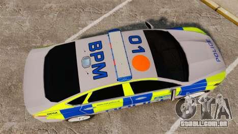 Ford Mondeo 2014 Metropolitan Police [ELS] para GTA 4 vista direita