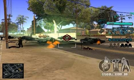 C-HUD Aztecas Gang para GTA San Andreas quinto tela