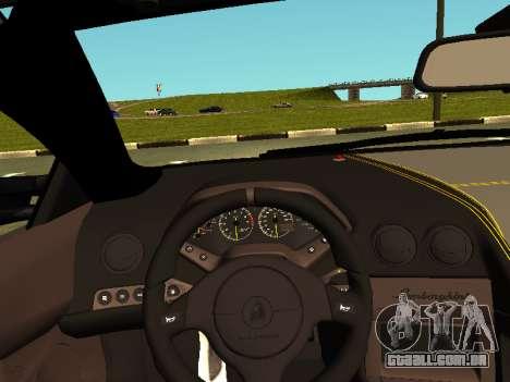 Lamborghini Murcielago LP670-4 SV Team Ravenwest para GTA San Andreas vista traseira