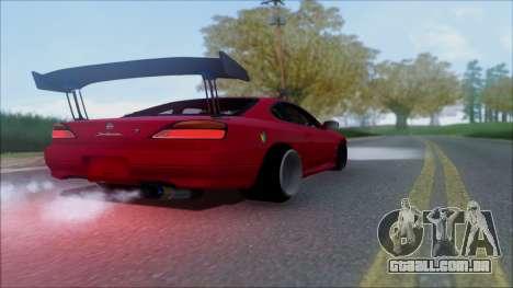 Nissan Silvia S15 V2 para vista lateral GTA San Andreas