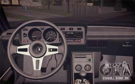 Volkswagen Scirocco S (Typ 53) 1981 IVF para GTA San Andreas vista traseira