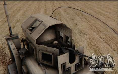 Oshkosh M-ATV para GTA San Andreas vista direita