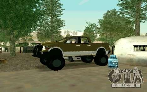 Dodge Ram 4x4 para GTA San Andreas vista direita