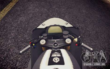 Yamaha YZF R1 2012 Black para GTA San Andreas vista direita