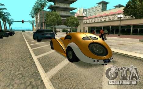 GTA V Z-type para GTA San Andreas esquerda vista
