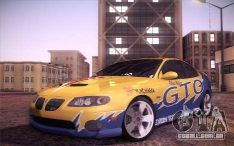 Pontiac GTO 2005 para GTA San Andreas vista superior