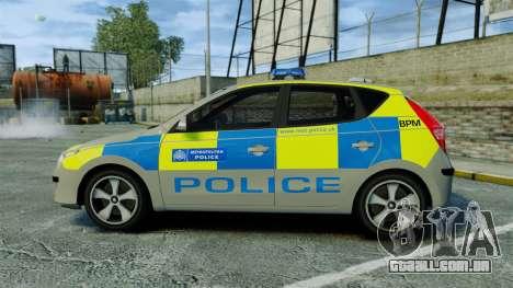 Hyundai i30 Metropolitan Police [ELS] para GTA 4 esquerda vista