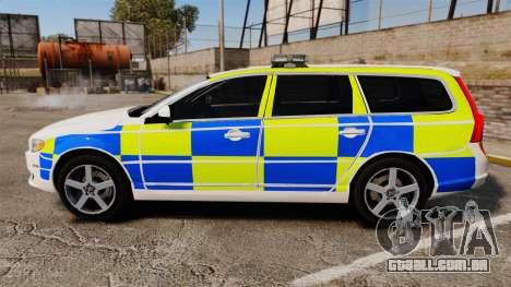 Volvo V70 South Wales Police [ELS] para GTA 4 esquerda vista