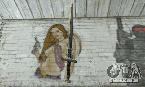 Gothic 2 Sword para GTA San Andreas segunda tela