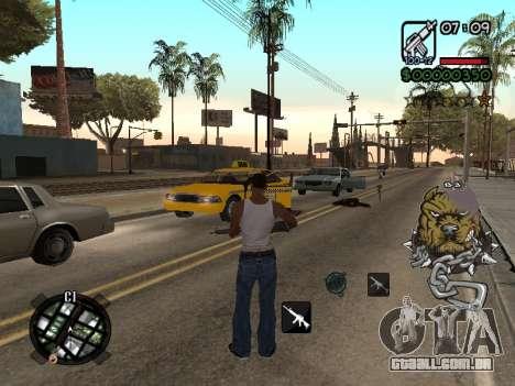 C-HUD by Margarin para GTA San Andreas terceira tela