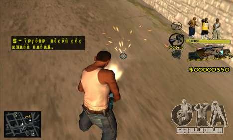 C-HUD Vagos Gang para GTA San Andreas terceira tela