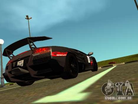 Lamborghini Murcielago LP670-4 SV Team Ravenwest para GTA San Andreas esquerda vista