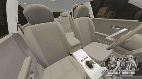 Infiniti FX45 2008 Vossen v1.1 para GTA 4 vista superior