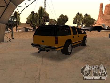 GMC Yukon para GTA San Andreas vista traseira