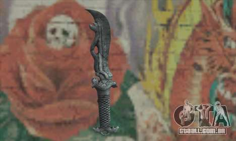 Chinese knife para GTA San Andreas segunda tela