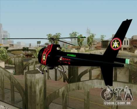 Sparrow BOPE para GTA San Andreas traseira esquerda vista