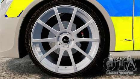 Audi S4 ANPR Interceptor [ELS] para GTA 4 vista de volta