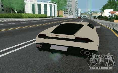 Lamborghini Huracane LP610-4 para GTA San Andreas traseira esquerda vista