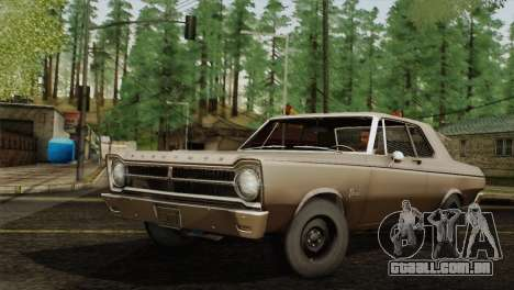 Plymouth Belvedere 2-door Sedan 1965 para GTA San Andreas esquerda vista