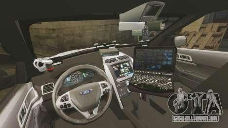 Ford Explorer 2013 LCPD [ELS] v1.5X para GTA 4 vista de volta