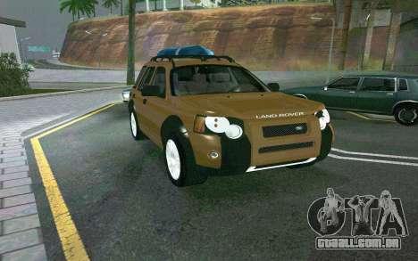 Land Rover Freelander para GTA San Andreas traseira esquerda vista