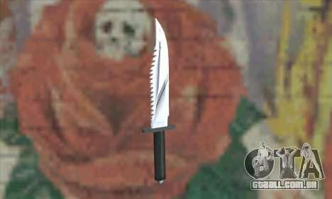 Faca Rambo para GTA San Andreas segunda tela