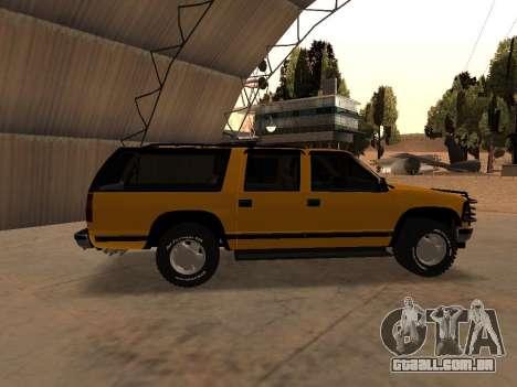 GMC Yukon para GTA San Andreas traseira esquerda vista