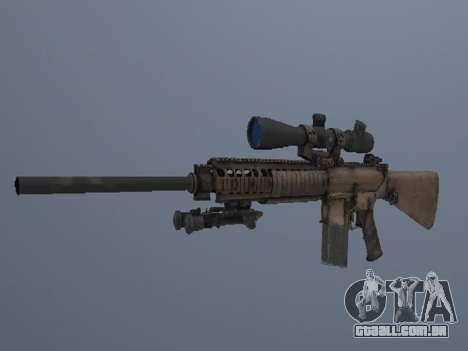 M110 para GTA San Andreas terceira tela