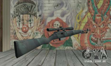 M21 de COD 4 Modern Warfare para GTA San Andreas segunda tela