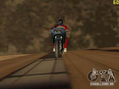 Equitação em paredes e tectos v 2.0. para GTA San Andreas segunda tela