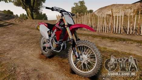 Kawasaki KX250F (Honda) para GTA 4